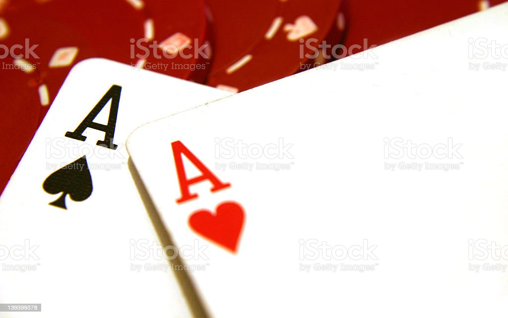 Cards Two Aces 5 royalty-free stock photo