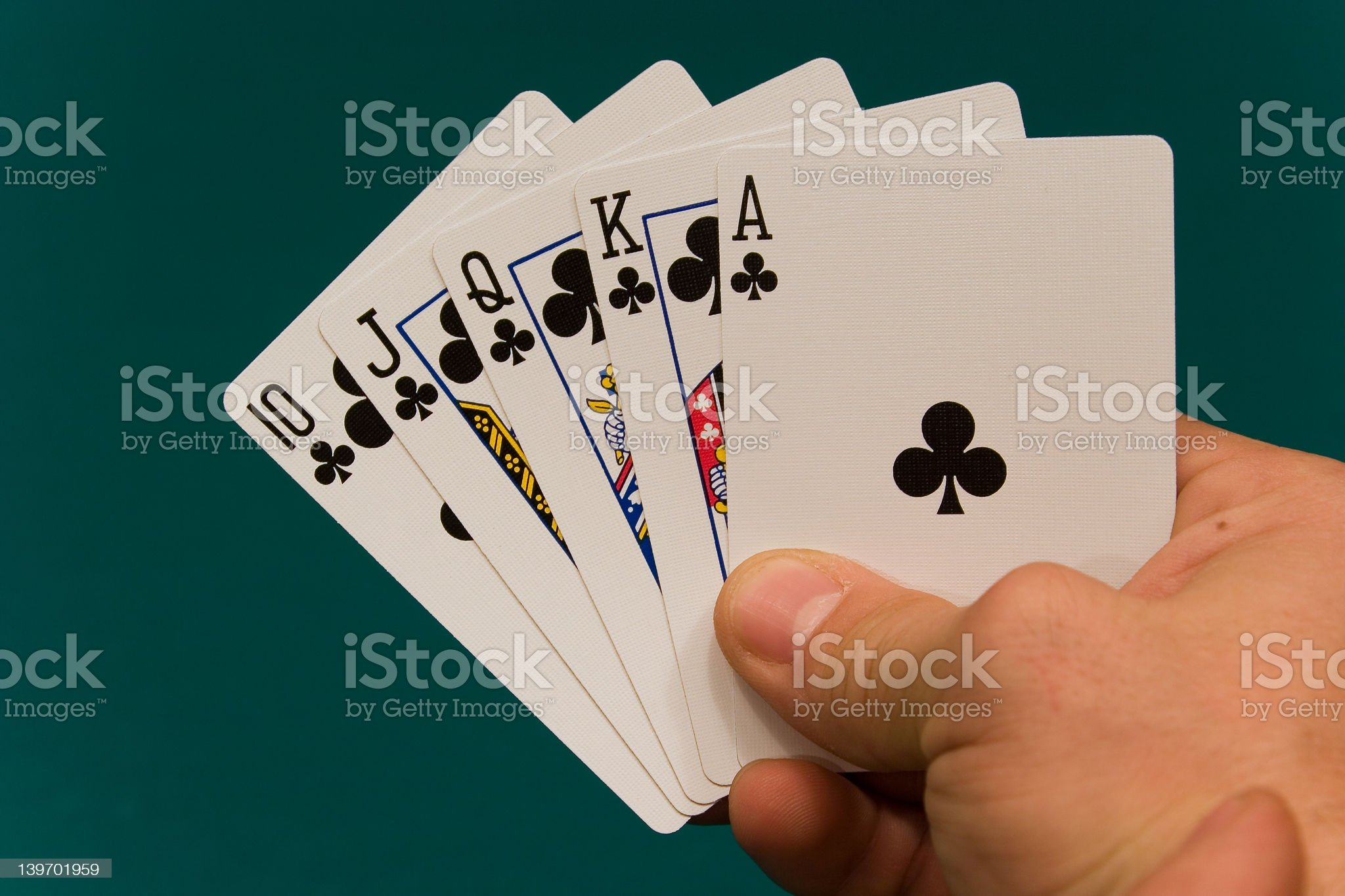 cards with hand 09 poker royal flush royalty-free stock photo