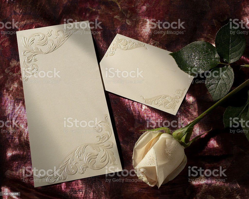 Cards with Rose stock photo