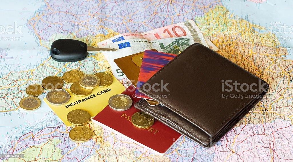 Cards&money royalty-free stock photo
