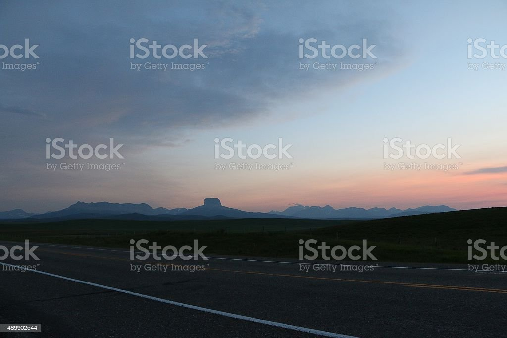 Cardston County view stock photo