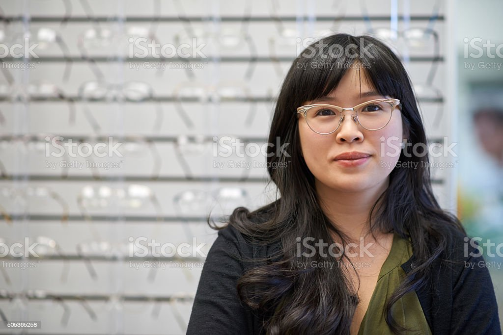 I care about your eye care stock photo