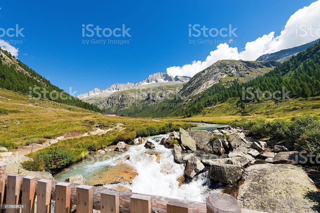 Care Alto and Chiese River - Italy stock photo