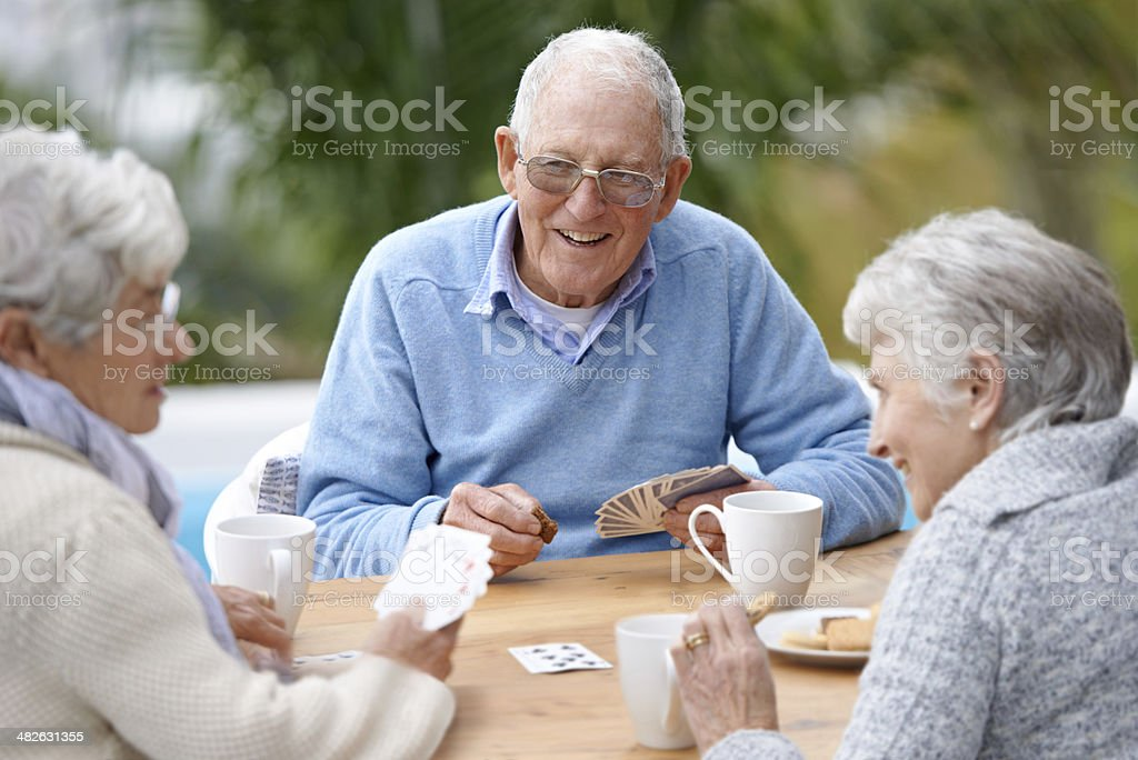 Care for a wager ladies? stock photo