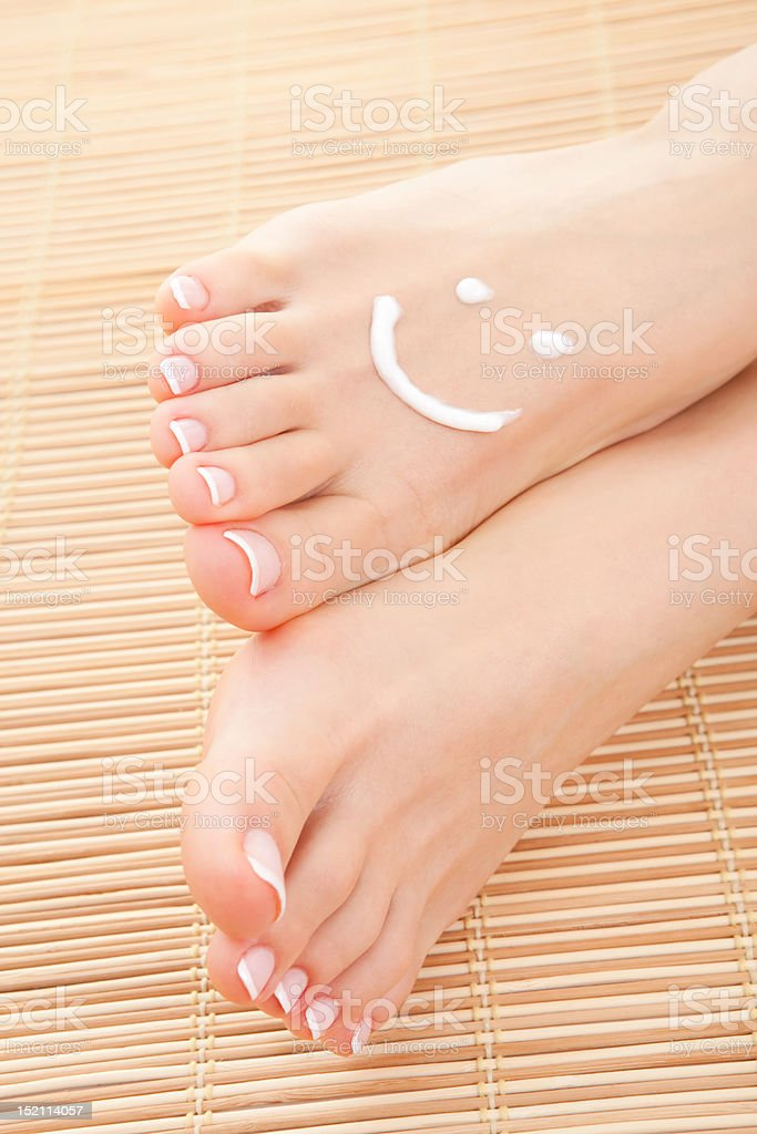 care for beautiful woman legs royalty-free stock photo