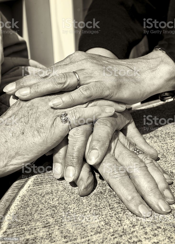 Care for the elderly stock photo