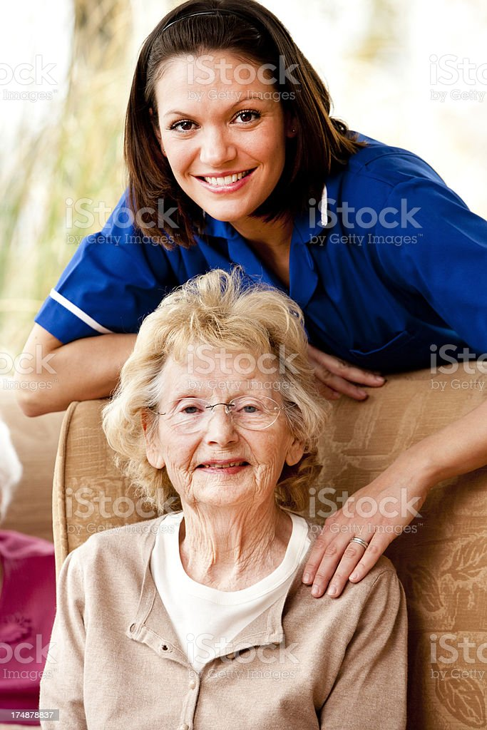 Care for the Elderly royalty-free stock photo