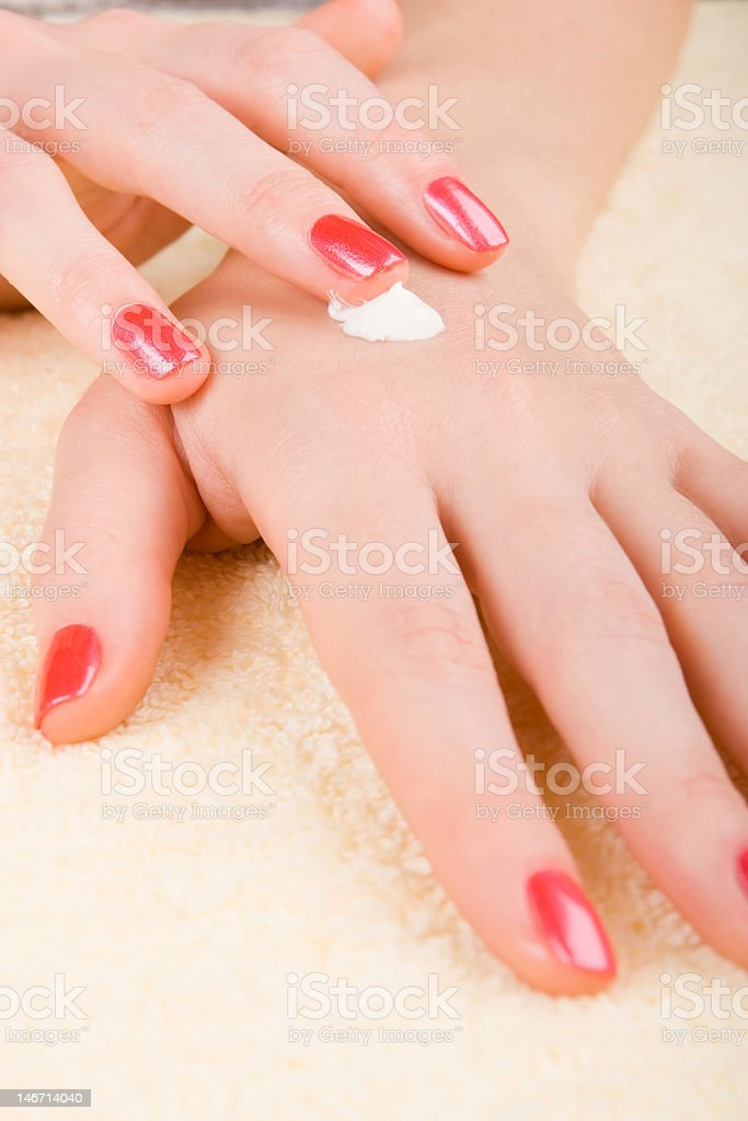 care for woman hands royalty-free stock photo