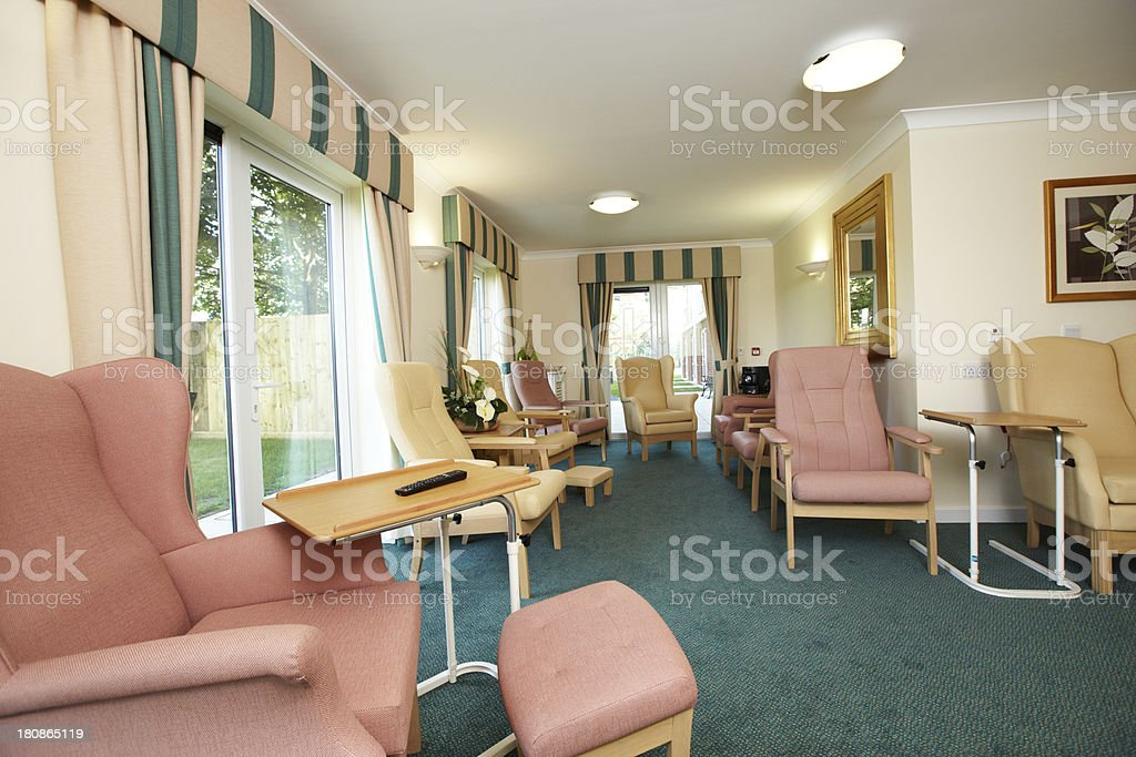 Care home living room royalty-free stock photo