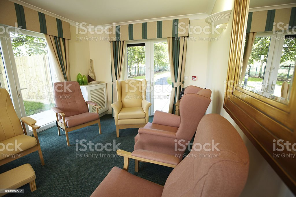 Care home seating royalty-free stock photo