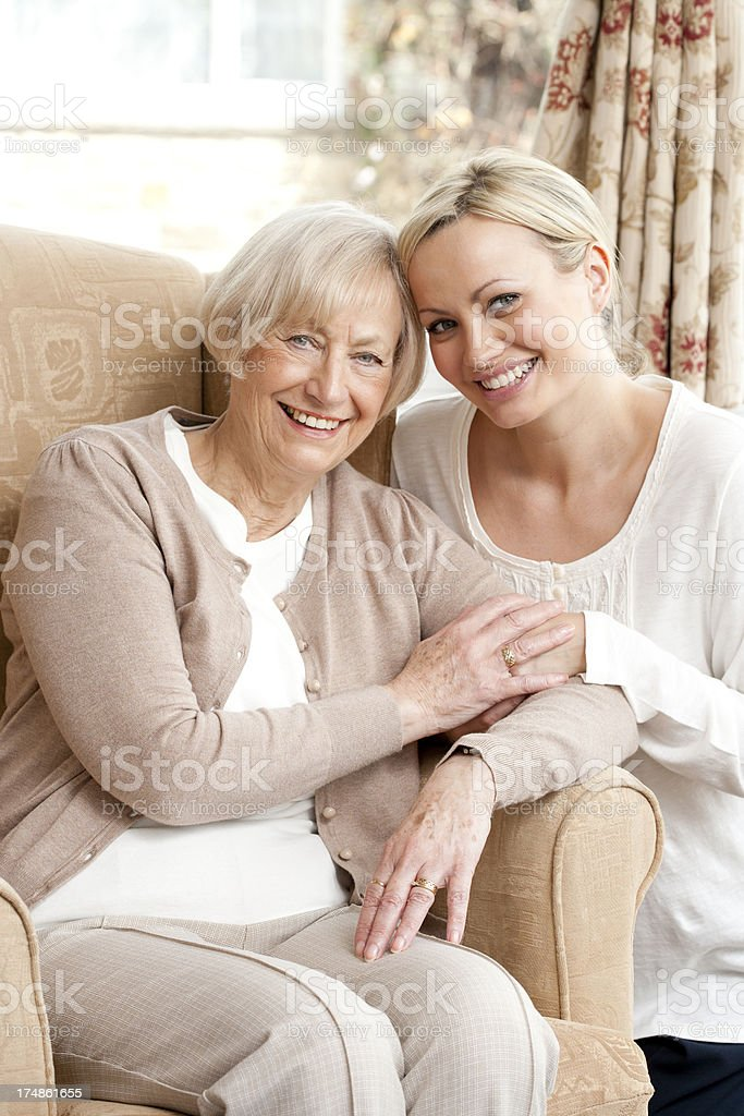 Care Home Visit royalty-free stock photo
