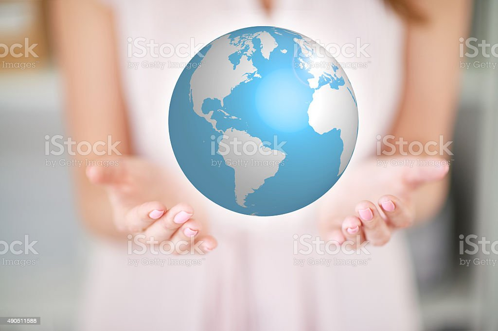 Care of planet stock photo