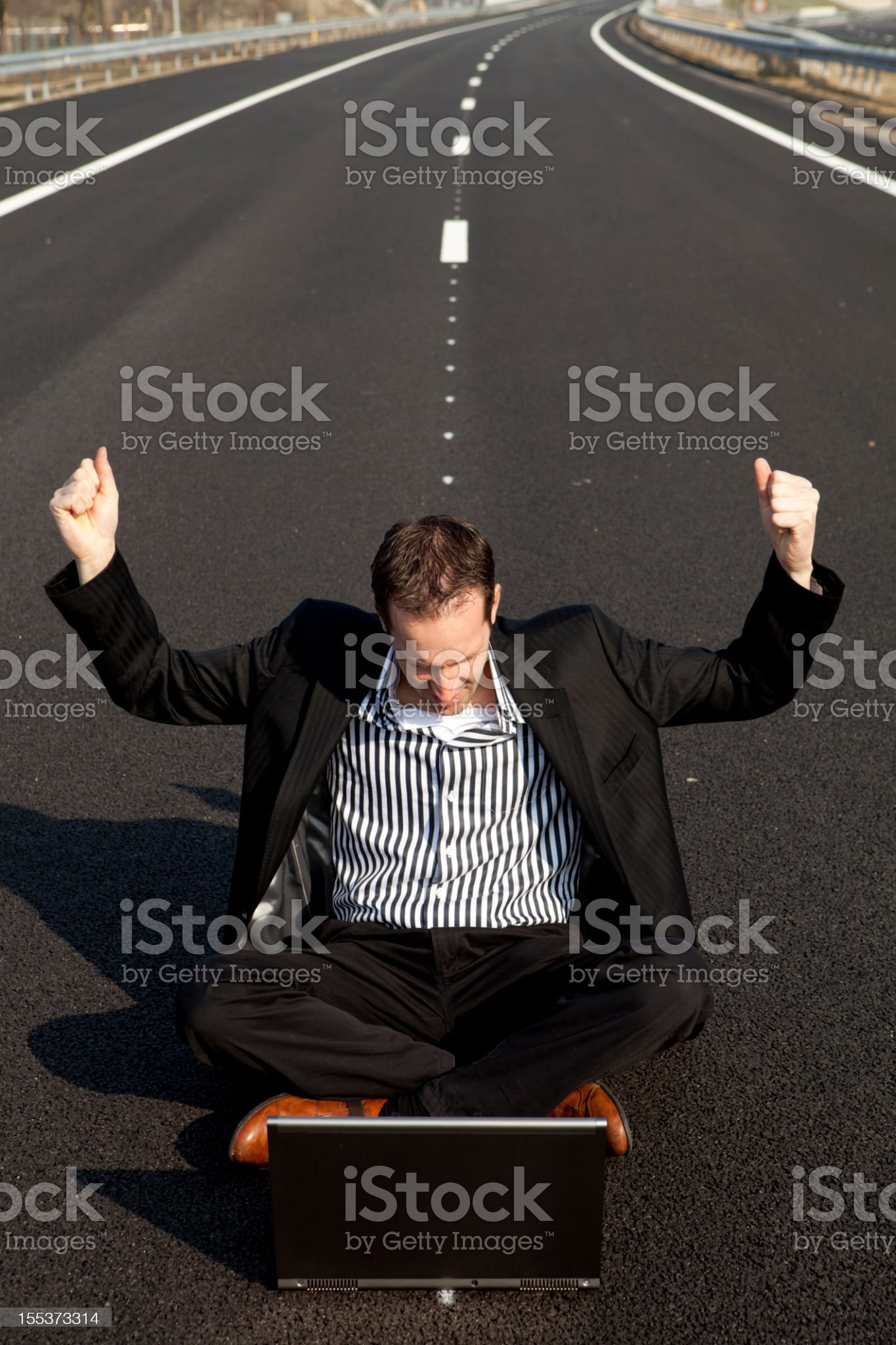 Career, a long way go, the road to success royalty-free stock photo