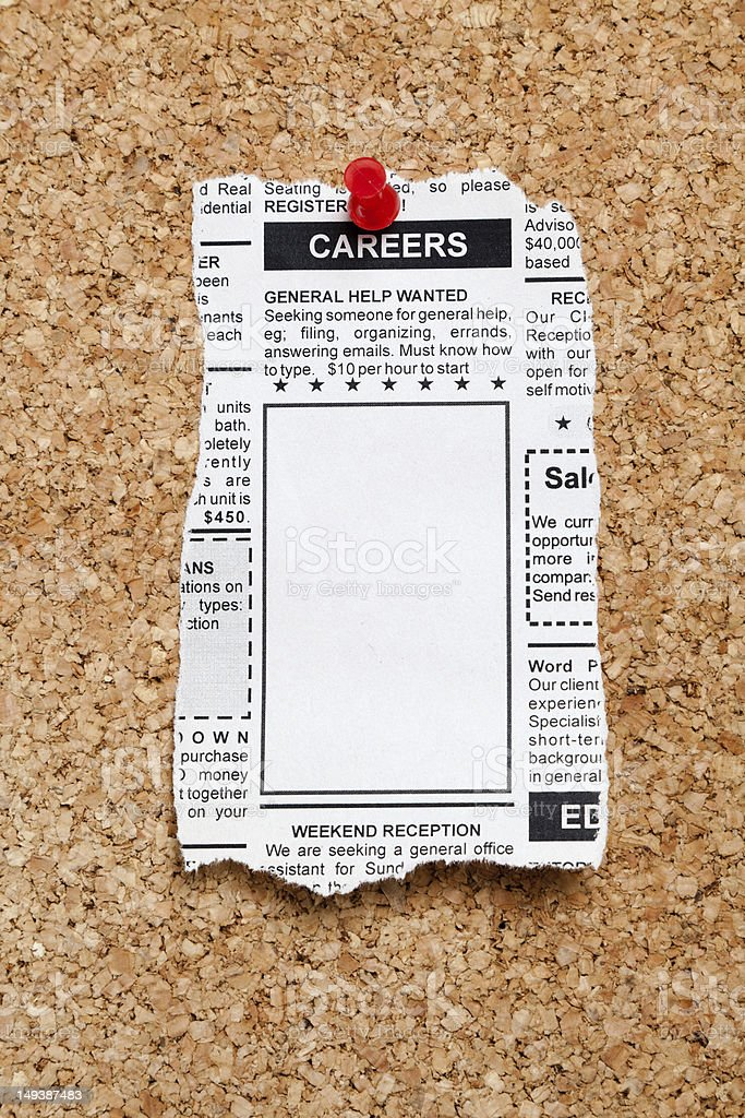Career Ad royalty-free stock photo