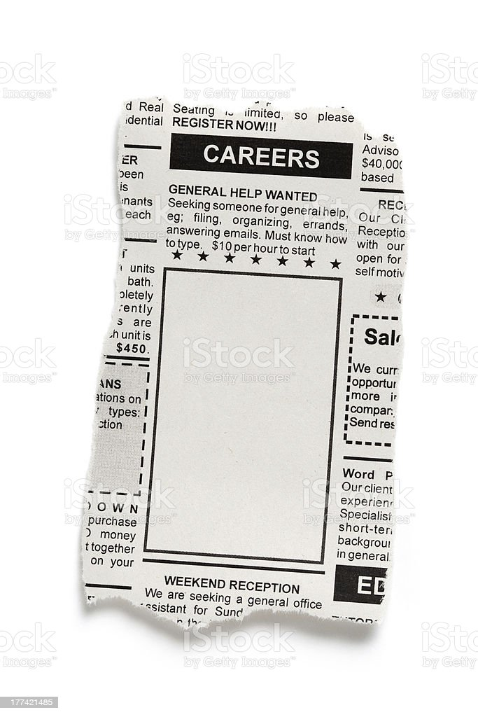 Career Ad stock photo