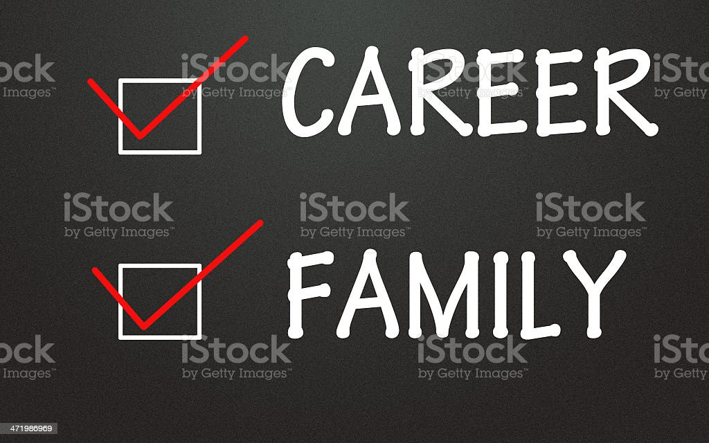 career and family choice stock photo