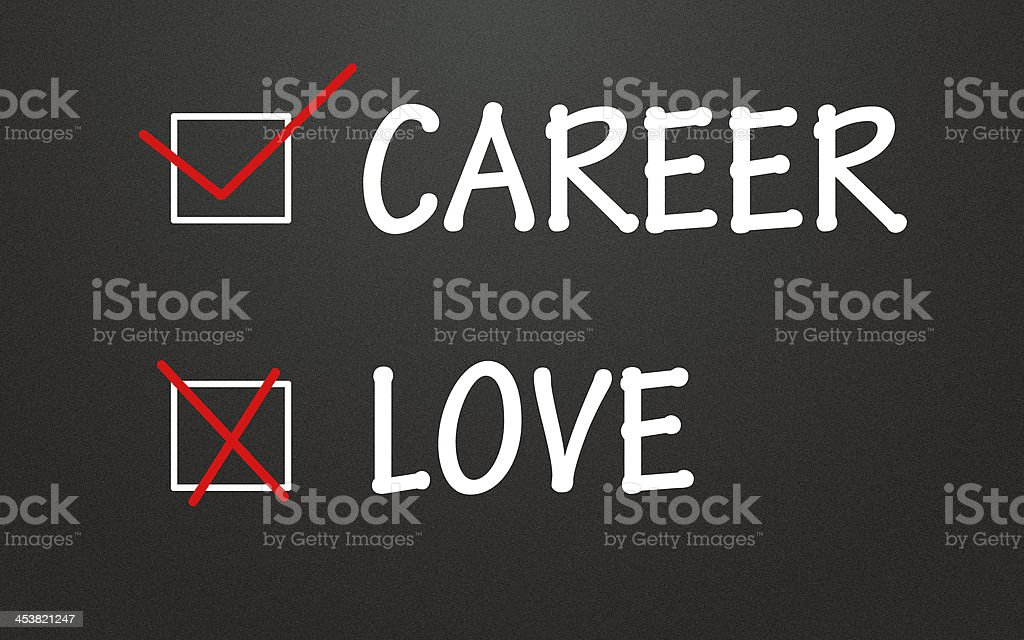 career and love choice royalty-free stock photo