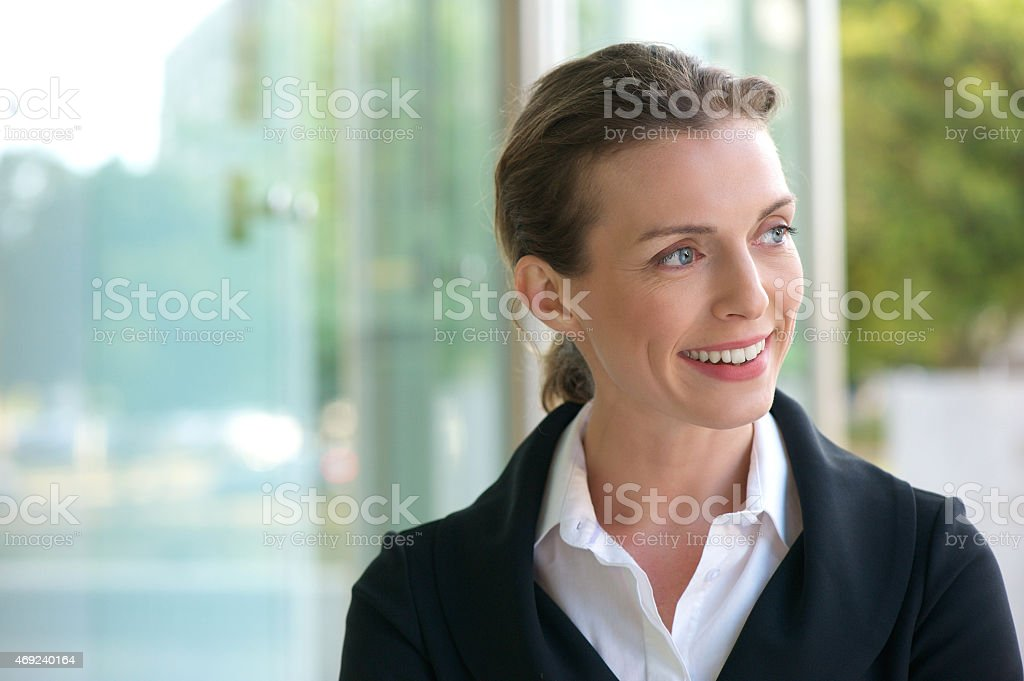 Career business woman smiling stock photo