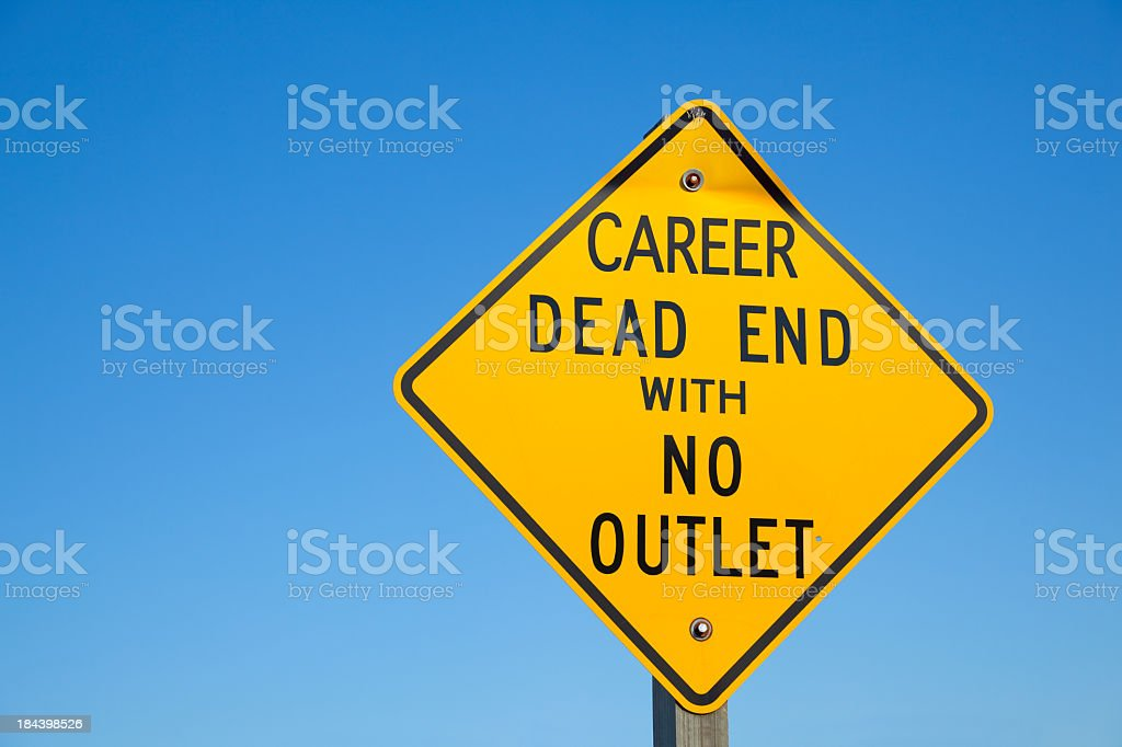Career Dead End Sign stock photo