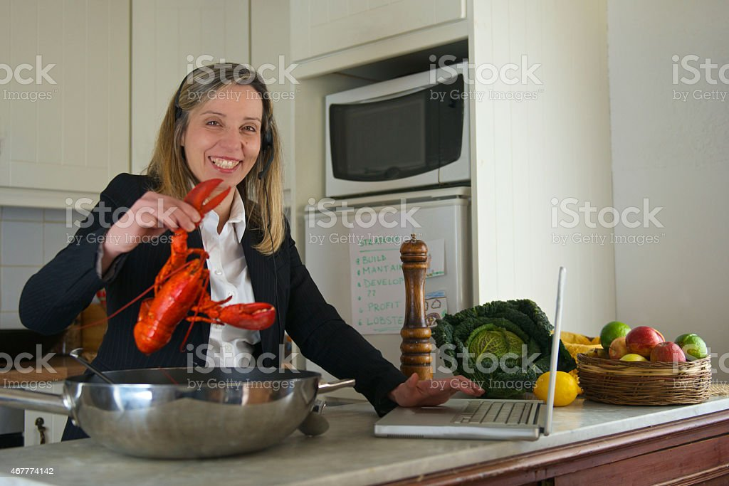 Career development for funny manager woman stock photo