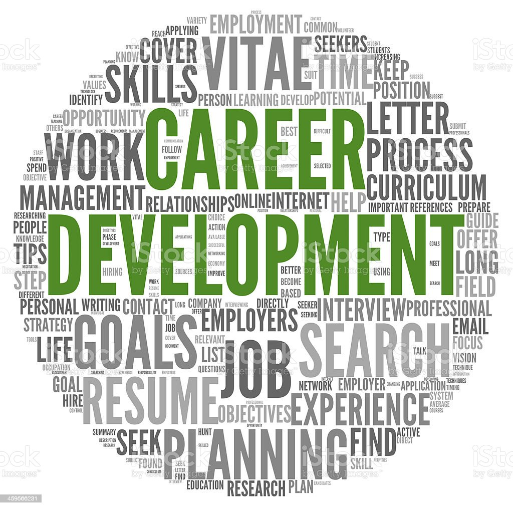Career development in word tag cloud on white stock photo