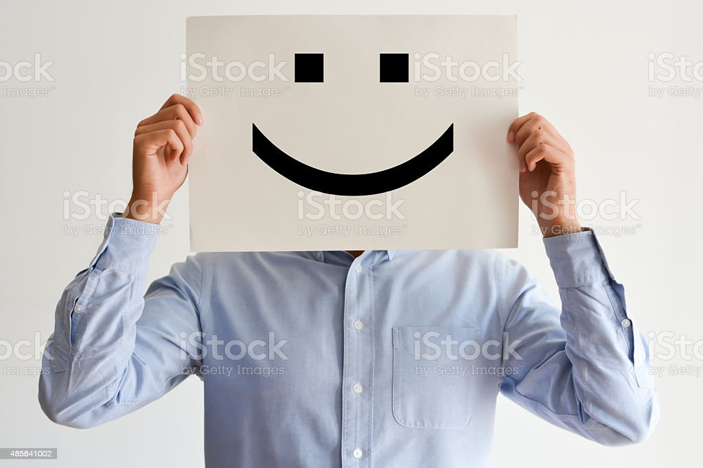 Career happiness or happy customer concept stock photo