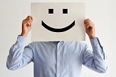 Career happiness or happy customer concept