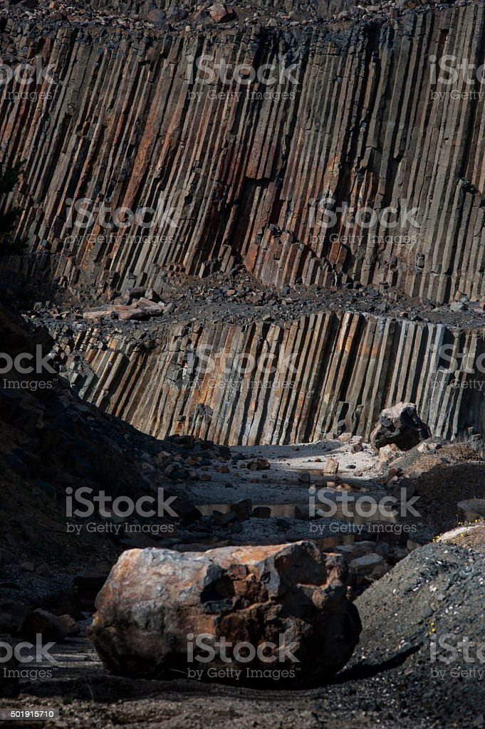 career of basalt and stone stock photo