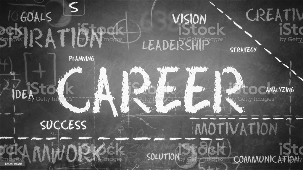 Career on Background stock photo