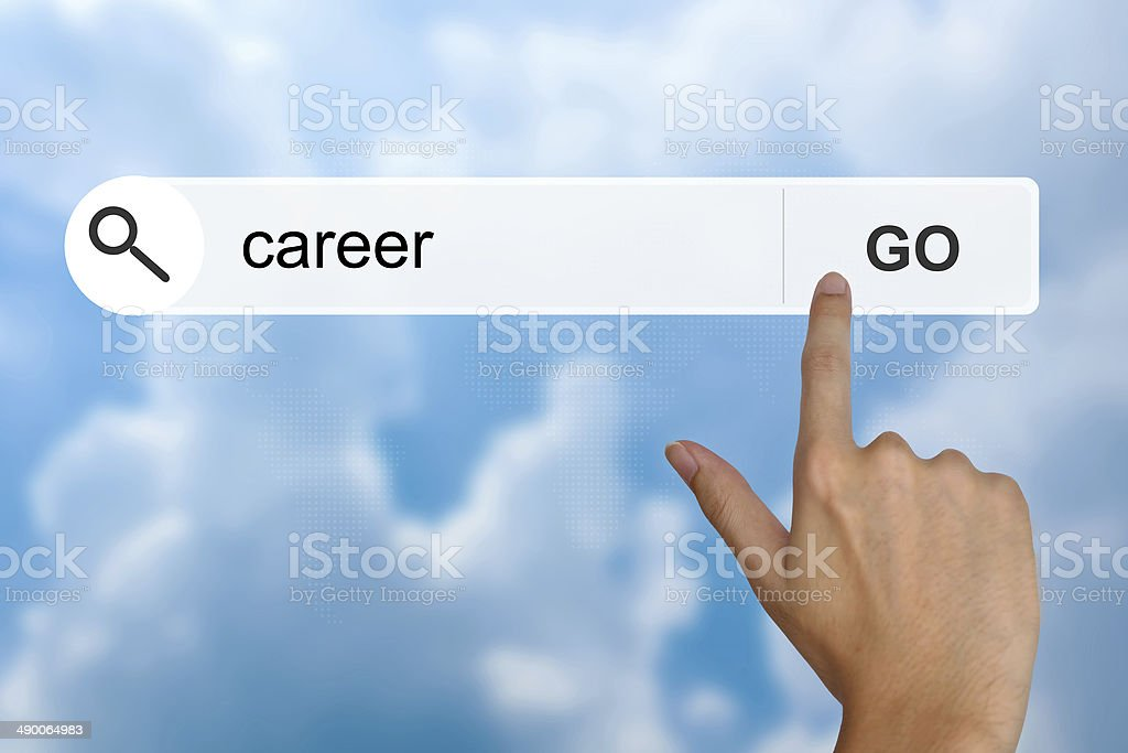 career on search toolbar stock photo