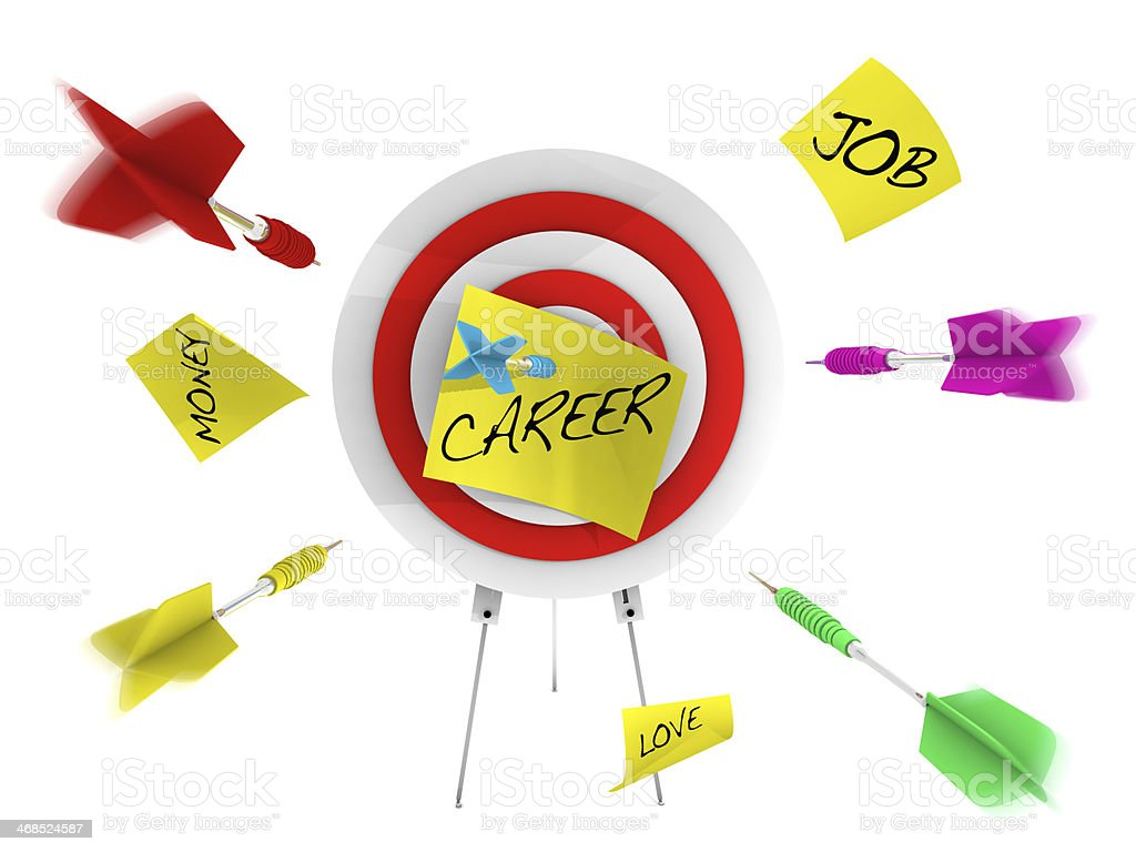 Career Opportunities and Dart Board royalty-free stock photo