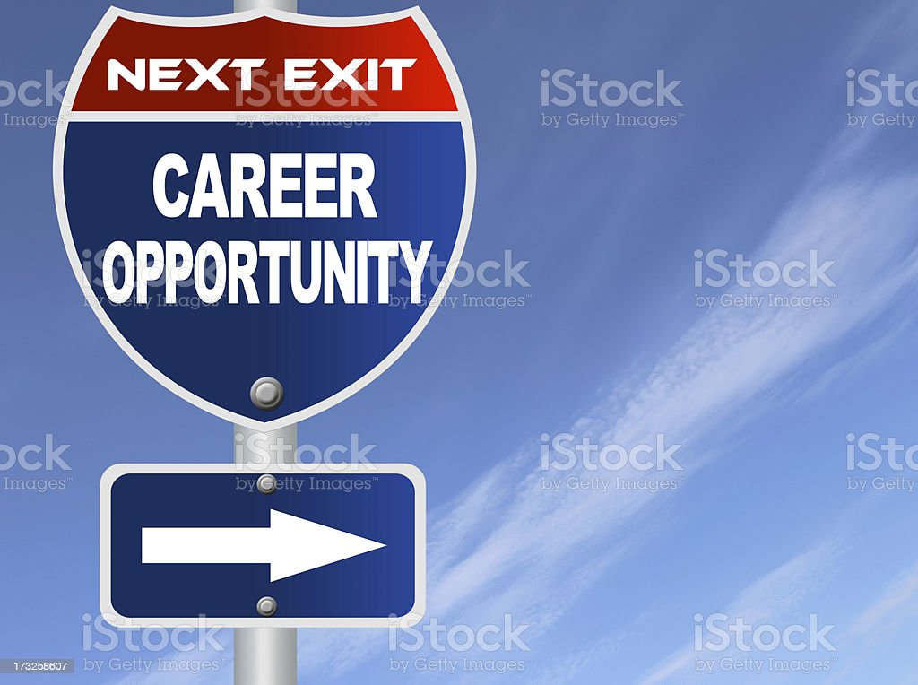 Career opportunity road sign royalty-free stock photo