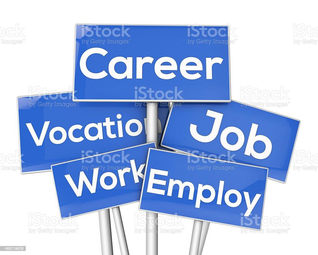 career signposts stock photo