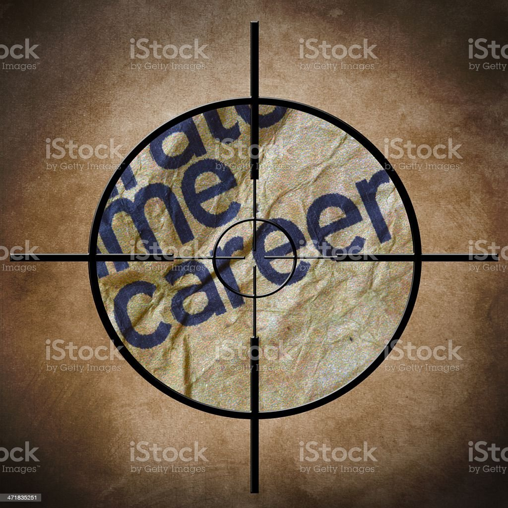 Career target concept royalty-free stock photo