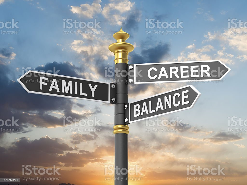 Career-Family balance stock photo