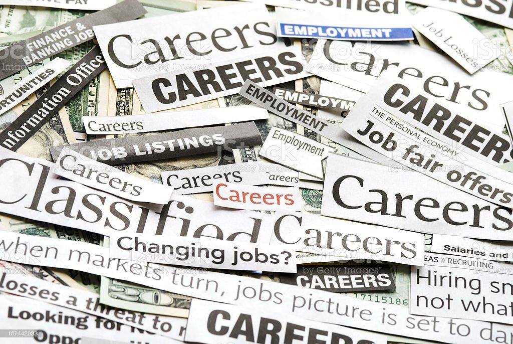 Careers (job search) - IX royalty-free stock photo