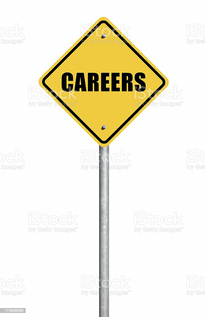 Careers Road Sign royalty-free stock photo