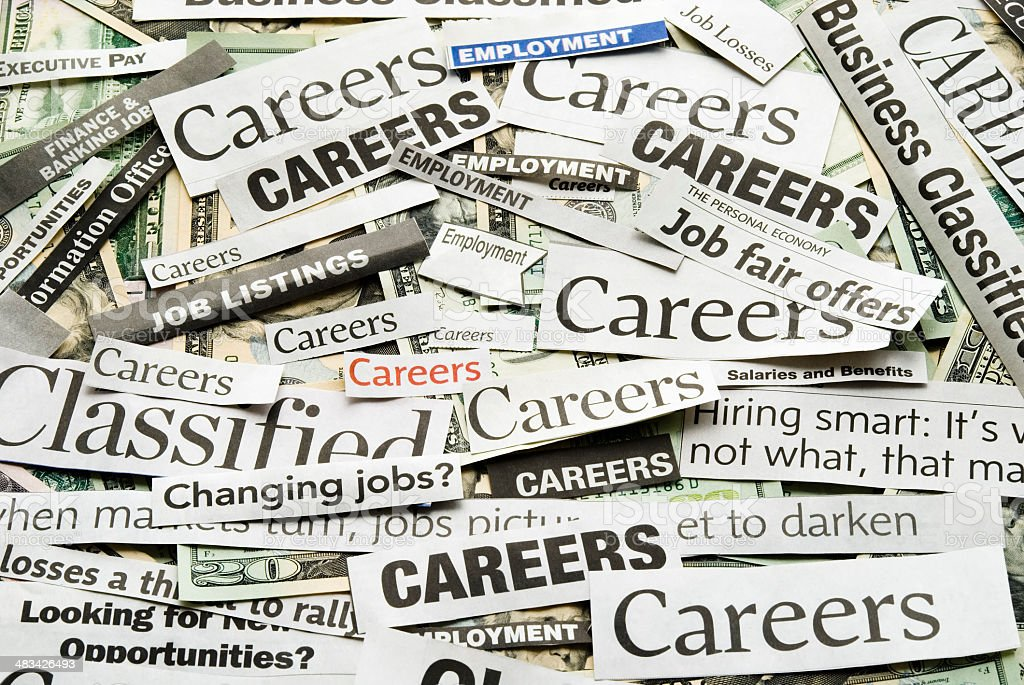 Careers (job search) - VI stock photo