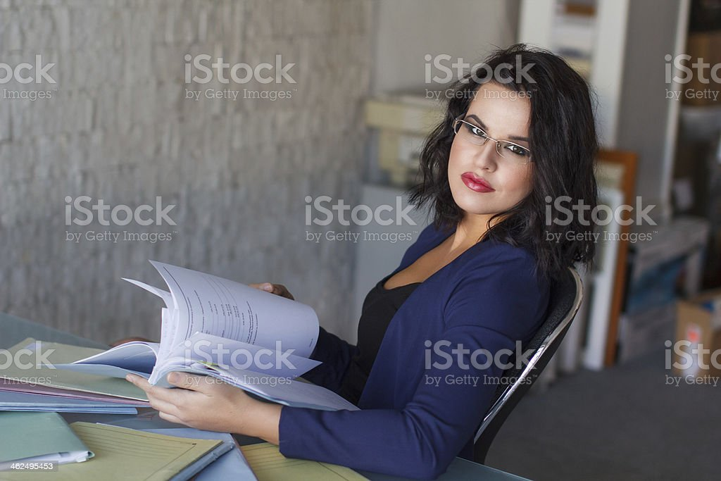 Carefree accountant royalty-free stock photo