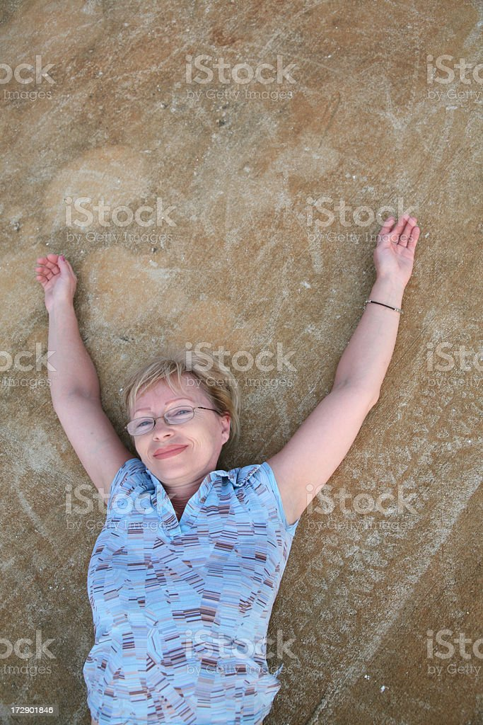 Carefree and happy royalty-free stock photo