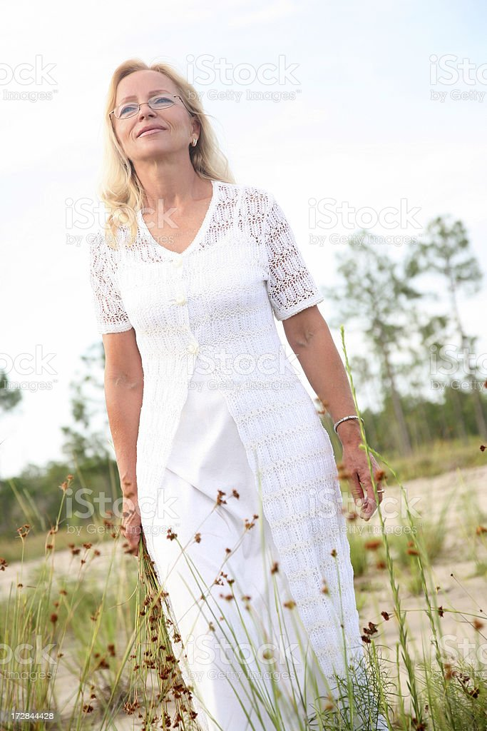 Carefree and happy woman. royalty-free stock photo