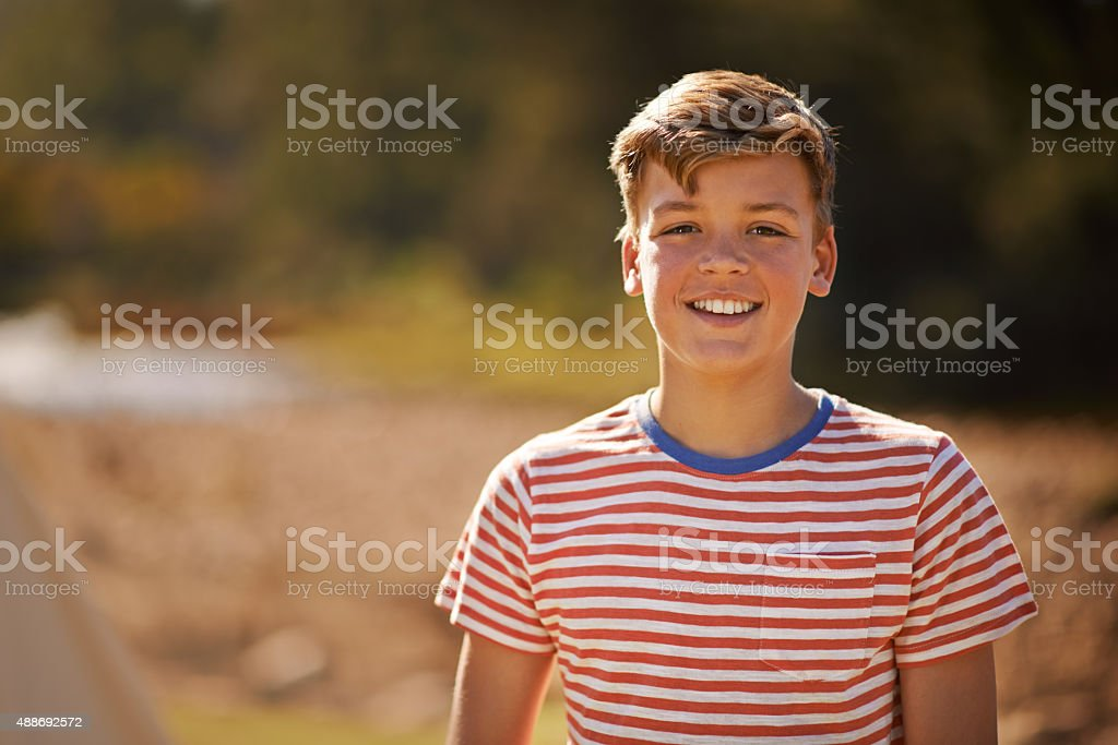 Carefree boyhood days stock photo
