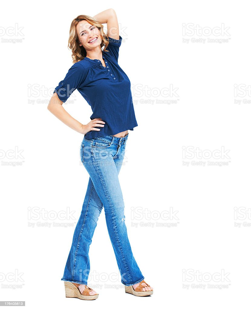 Carefree, cheerful beauty stock photo
