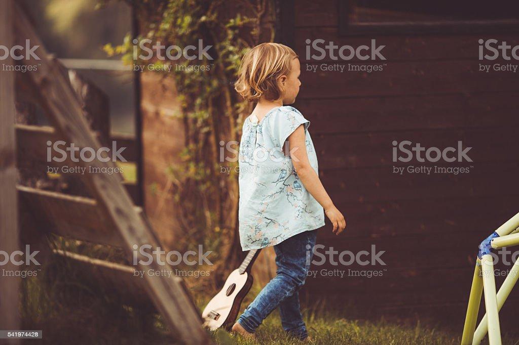 Carefree childhood stock photo