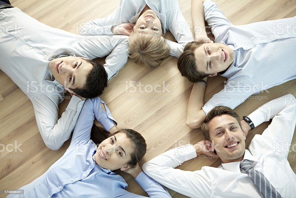 Carefree colleagues royalty-free stock photo