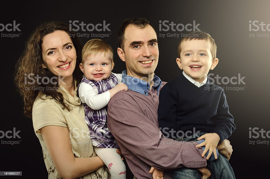 carefree family royalty-free stock photo