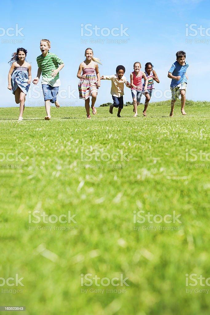 Carefree kids stock photo
