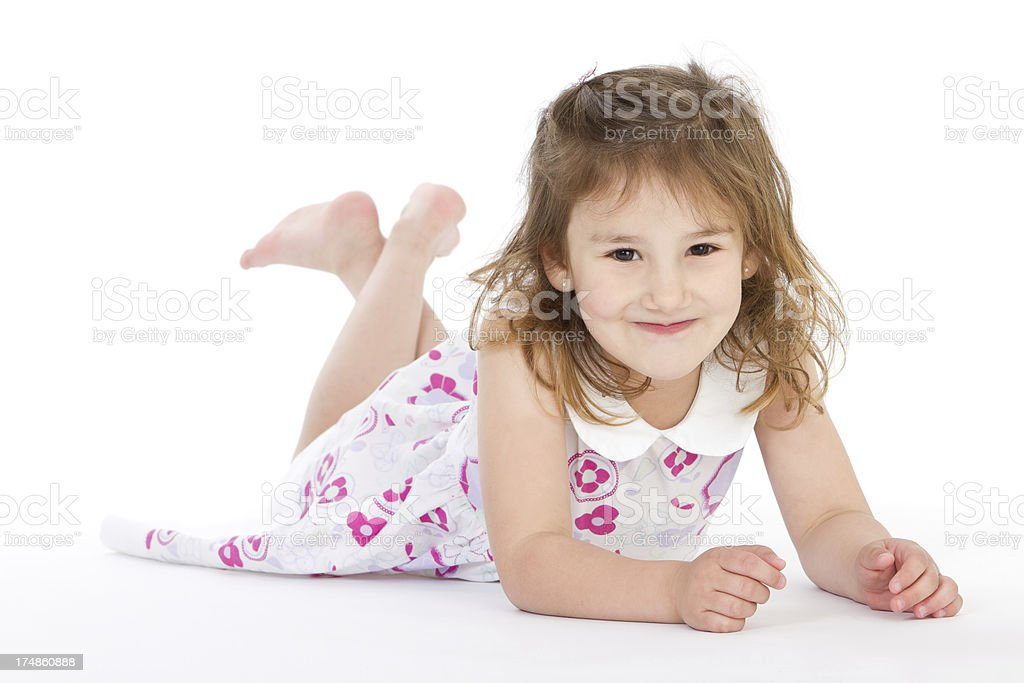Carefree little girl royalty-free stock photo