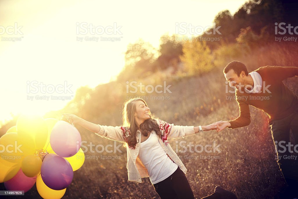 Carefree love royalty-free stock photo