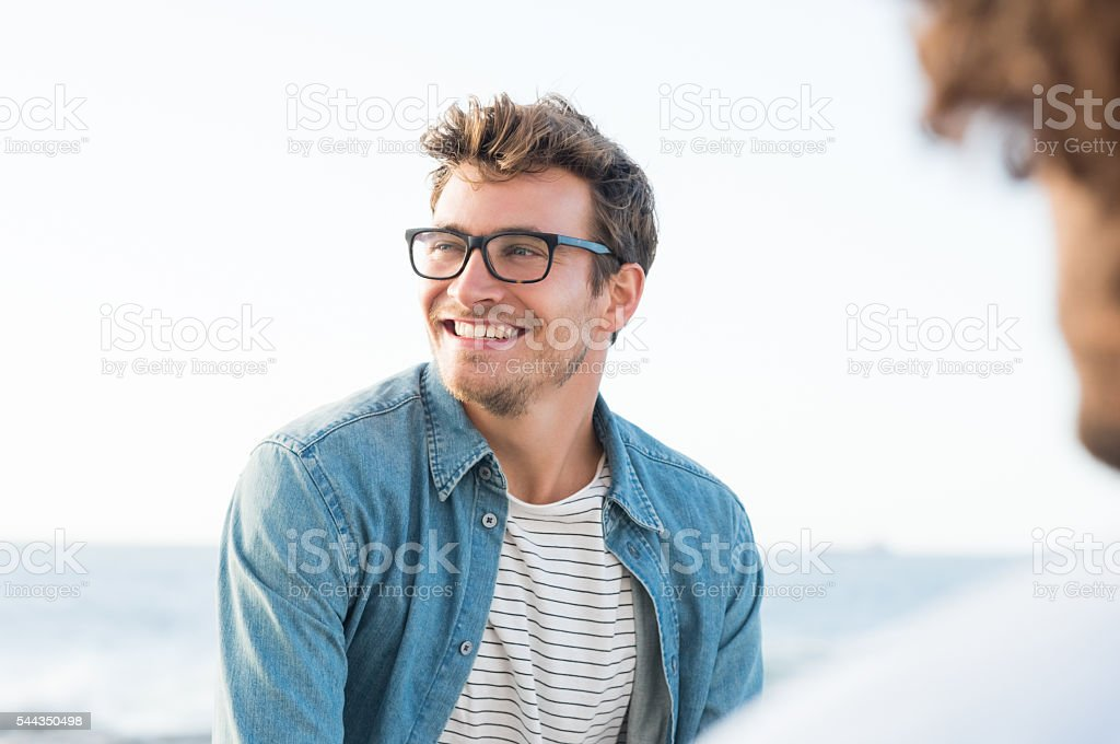 Carefree man stock photo